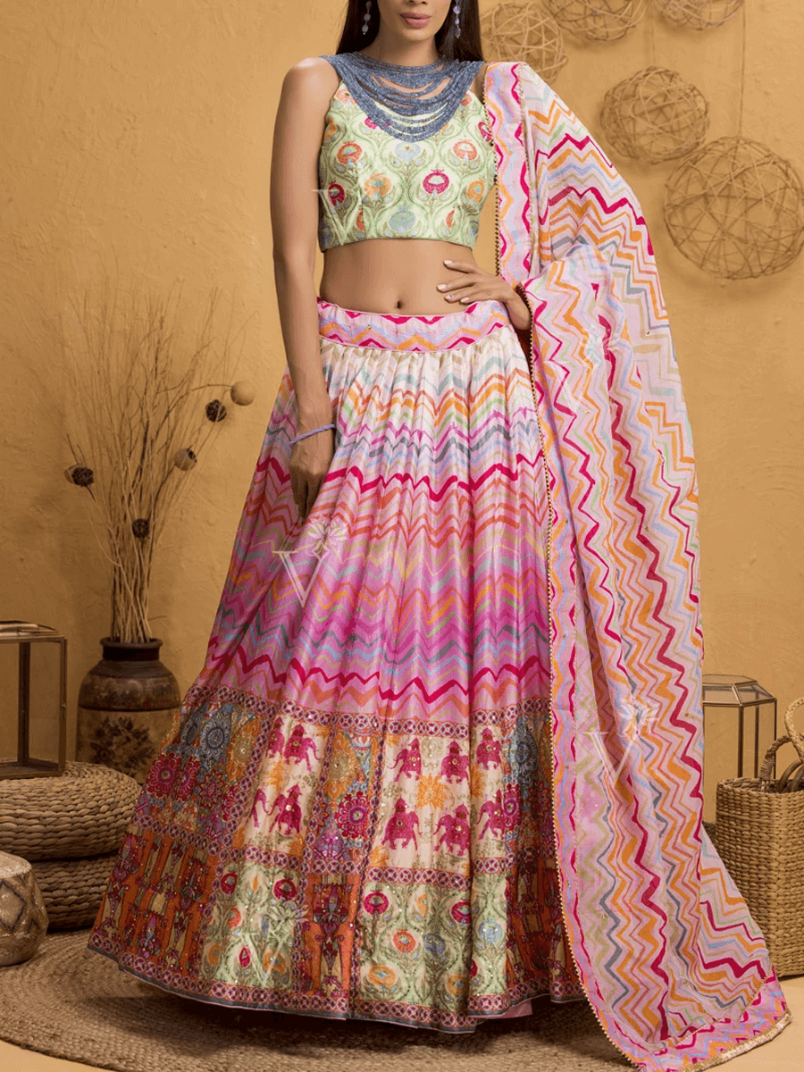 Latest Silk Lehenga Design